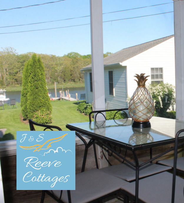 Cozy Waterfront Vacation Rental Cottage 4 Screened-In Porch View