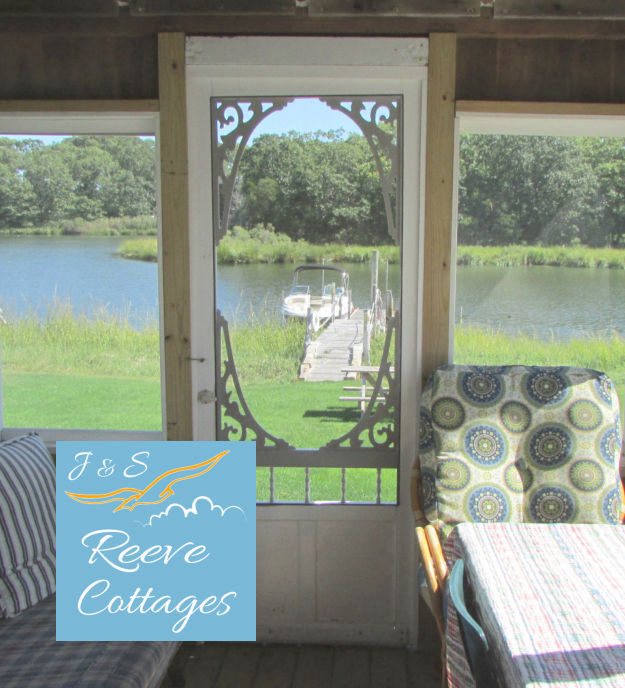 Premier Waterfront Vacation Rental Cottage 1 Screened-In Porch View