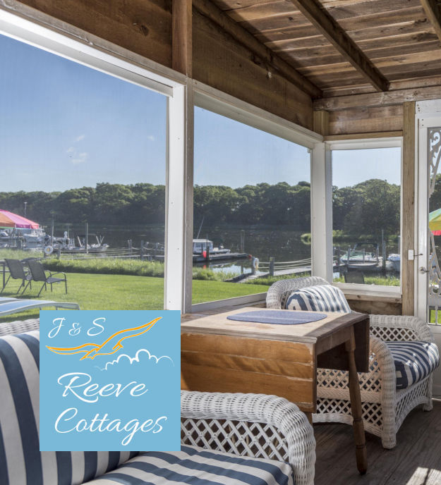 Premier Waterfront Vacation Rental Cottage 3 Screened-In Porch View