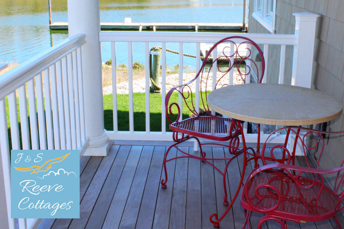 Shared Modern Waterfront Vacation Rental Suite 2 Porch